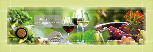 Wein mit Logo-Motiv 001 | Impressionen grün
