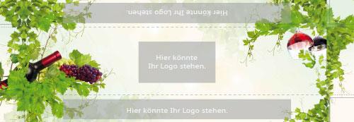 Wein mit Logo-Motiv 002 | Impressionen hell